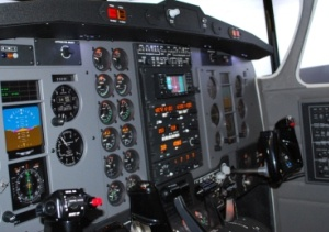 King Air Simulator Cockpit, side view